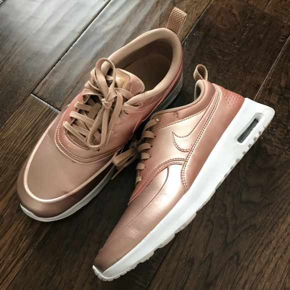 Nike Air Max Thea rose gold size 7.5 like New!